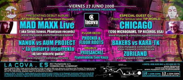 Party Flyer Mad Maxx & Chicago@La Cova 27 Jun '08, 23:30