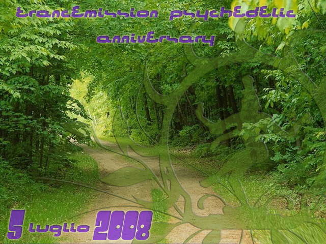 Party Flyer Trancemission project Psychedelic Anniversary 5 Jul '08, 18:00