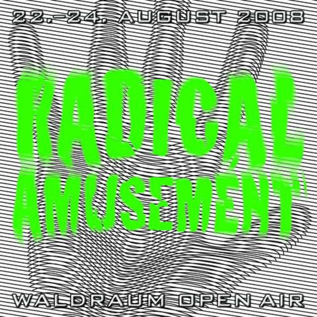 Party Flyer Waldraum OA ~ Radical Amusement 22 Aug '08, 20:00
