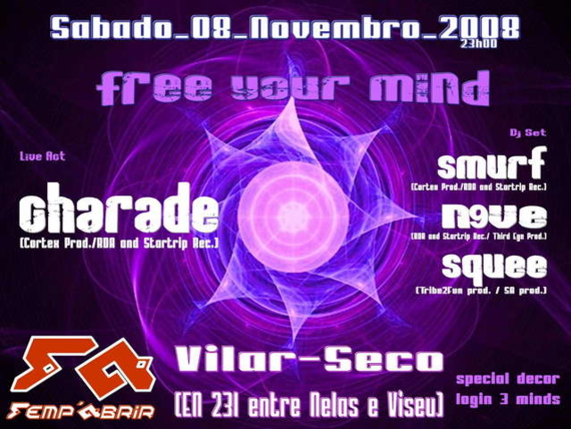 Party Flyer Free Your Mind 8 Nov '08, 22:00