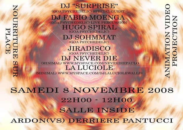 Party Flyer Goa Psychedelic 8 Nov '08, 22:00