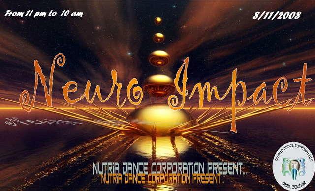 Party Flyer NeUrO__ImPacT.,.,3ò YAB YUM .,.,.,live 3ò 8 Nov '08, 23:00