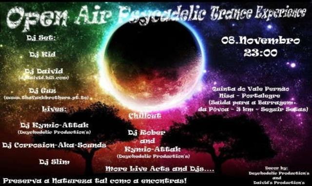 Party Flyer Open Air Psycadelic Trance Experience 8 Nov '08, 23:00