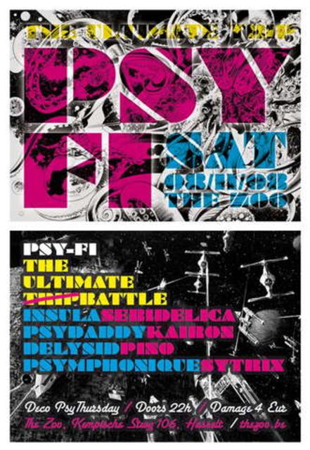 Party Flyer PSY-FI: The Ultimate (Trip) Battle 8 Nov '08, 22:00