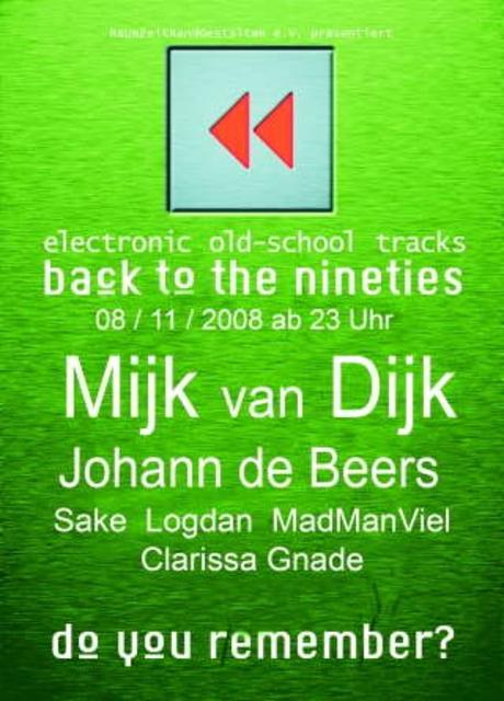 Party Flyer Rewind-Electronic OldschoolTracks 8 Nov '08, 23:00