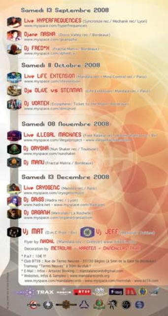 Party Flyer SOLARiS 8 Nov '08, 23:00