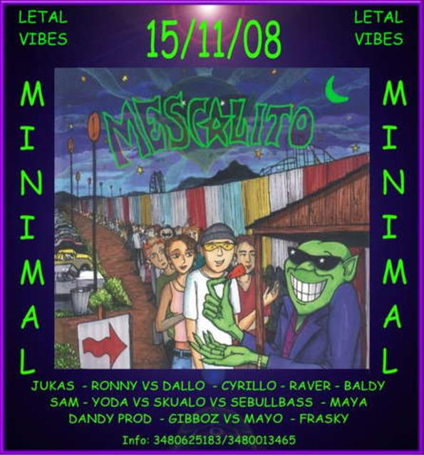 Party Flyer -EL M3SCALITO- ..il remember dei remember.. 15 Nov '08, 23:00