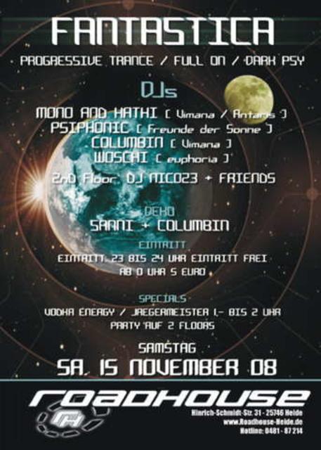 Party Flyer FANTASTICA THE CLUB 15 Nov '08, 23:00