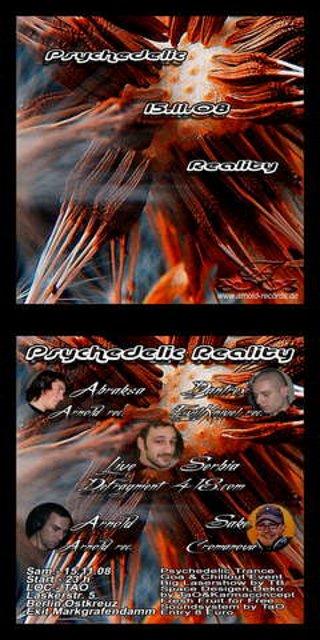Party Flyer Psychedelic Reality 15 Nov '08, 23:00