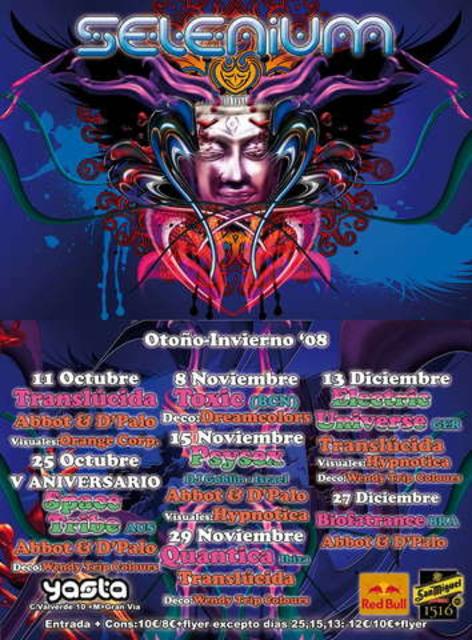 Party Flyer SELENIUM - PSYSEX (Dj Goblin) 15 Nov '08, 23:30