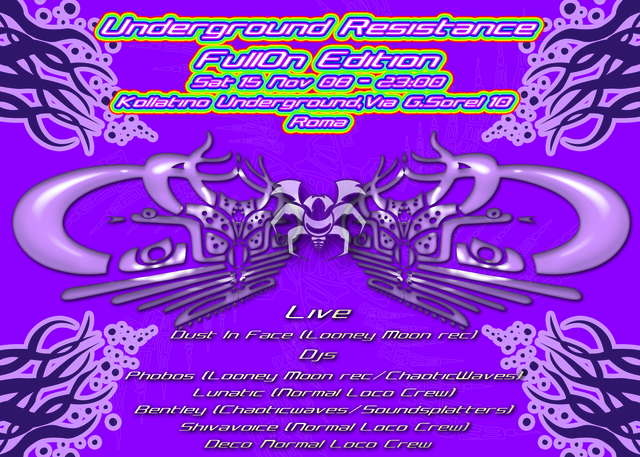 Party Flyer UnDeRGrOuND ReSiSTaNcE - FuLL ON edition 15 Nov '08, 23:30