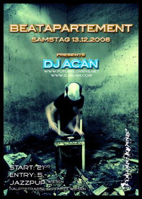 Party Flyer B eat a P arte M ent 13 Dec '08, 22:00