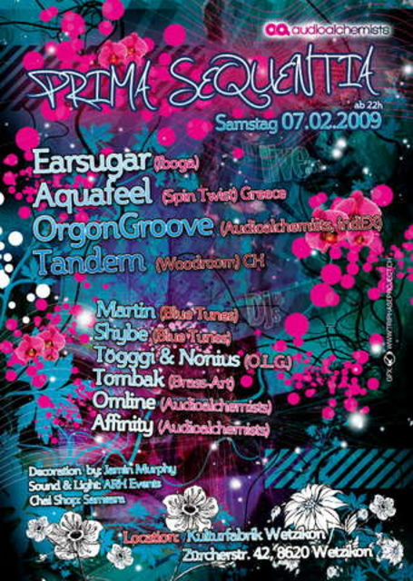 Party Flyer Prima Sequentia 7 Feb '09, 22:00