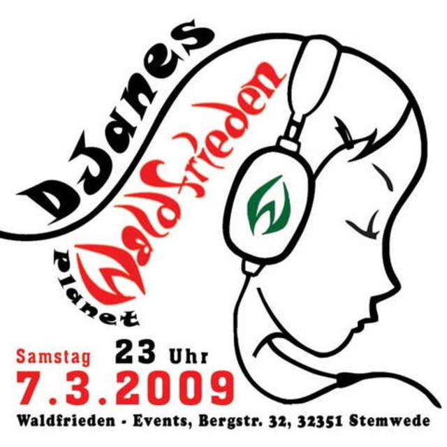 Party Flyer DJanes Planet Waldfrieden zum Weltfrauentag ! 7 Mar '09, 23:00