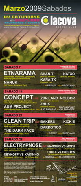 Party Flyer London Nights: Etnarama (Boundless Rec, POR)@La Cova 7 Mar '09, 23:30