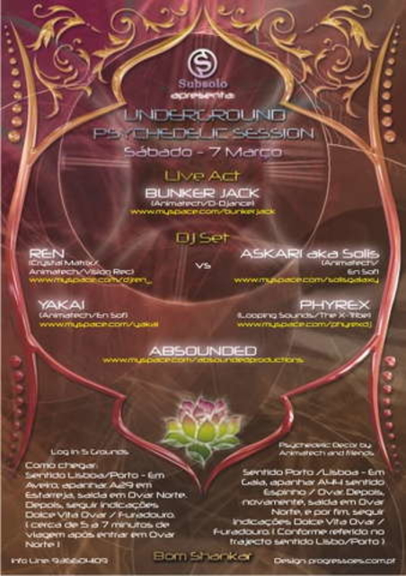 Party Flyer Underground Psychedelic Session 7 Mar '09, 23:30