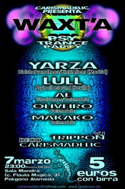 Party Flyer WAXT'A 7 Mar '09, 23:00
