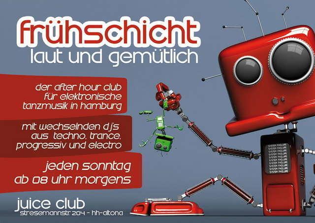 Party Flyer frühschicht laut & gemütlich 8 Mar '09, 08:00