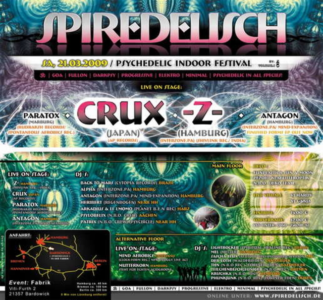 Party Flyer *SPIREDELISCH*Time Table Online 21 Mar '09, 22:00