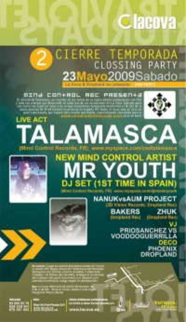 Talamasca + Mr.Youth@La Cova CLOSING PARTY II 23 May '09, 23:30