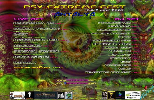 Party Flyer PSY-EXTREME FESTVAL 10 Jul '09, 22:00