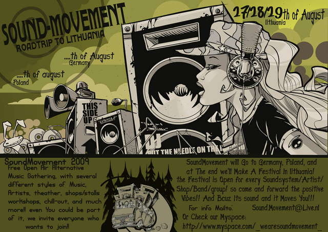 Party Flyer Sound Movement - Rave festival - 2009 08 27/28/29 27 Aug '09, 22:00