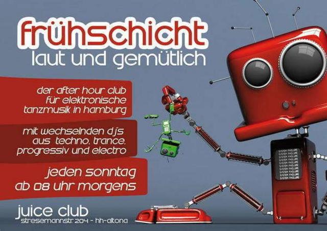 Party Flyer frühschicht laut & gemütlich 30 Aug '09, 08:00