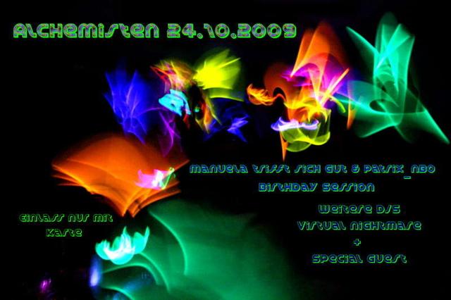 Party Flyer Alchimist mit SHAWNODESE 24 Oct '09, 22:00