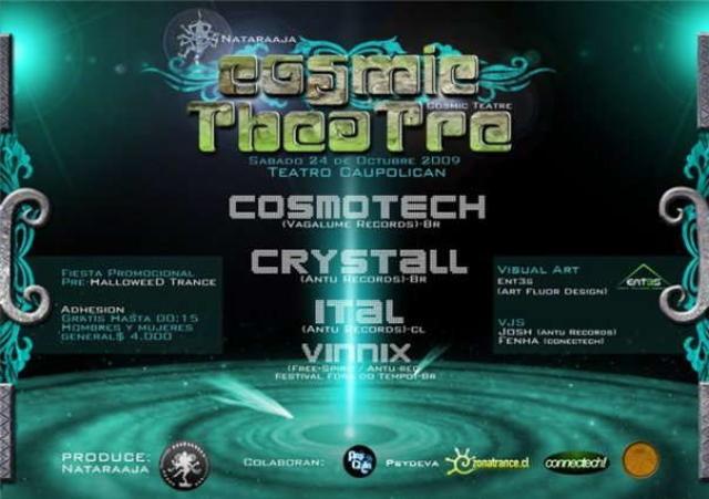 Party Flyer COSMIC THEATRE 24 Oct '09, 22:00