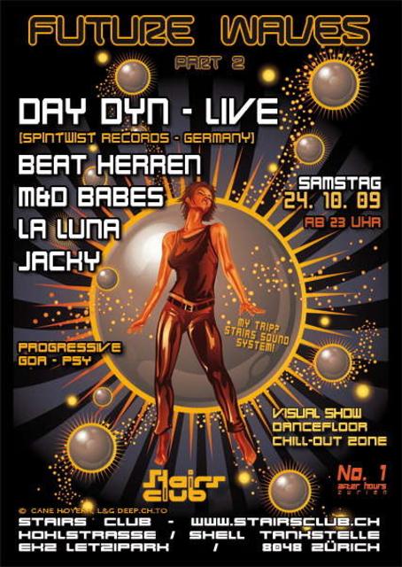 Party Flyer FutureWavesPart2 24 Oct '09, 23:00
