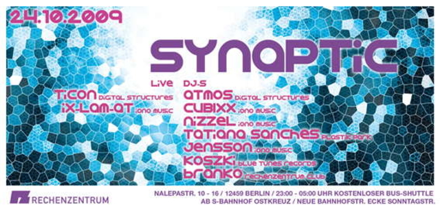 Party Flyer SYNAPTIC 2009 24 Oct '09, 23:00