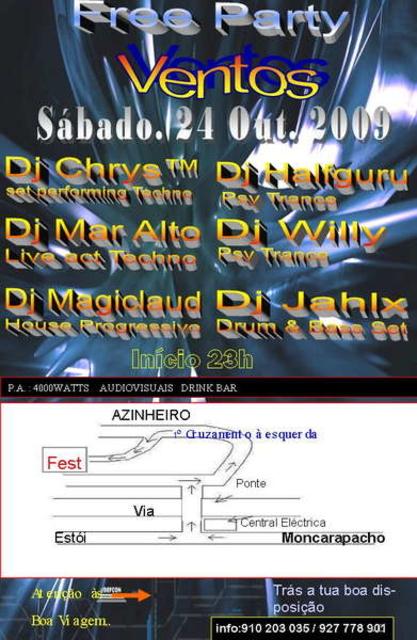 Party Flyer VENTOS - Free Party 24 Oct '09, 23:00