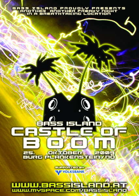 Party Flyer CASTLE OF BOOM 25 Oct '09, 21:00