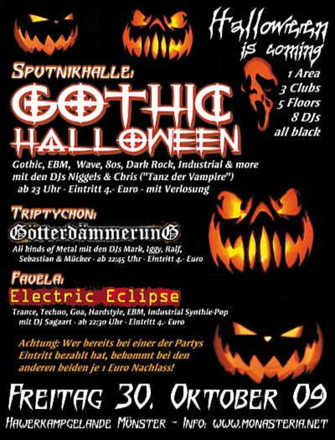 Party Flyer Electric Eclipse - electronic music 30 Oct '09, 22:30
