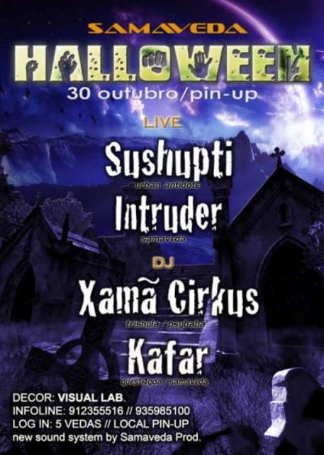 Party Flyer HALLOWEEN - SAMAVEDA 30 Oct '09, 23:30