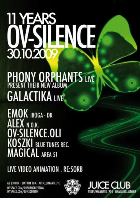 Party Flyer 11 Jahre ov-silence - Birthday Special 30 Oct '09, 23:00