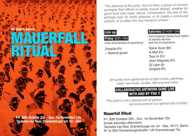 Party Flyer MAUERFALL RITUAL 30 Oct '09, 22:00