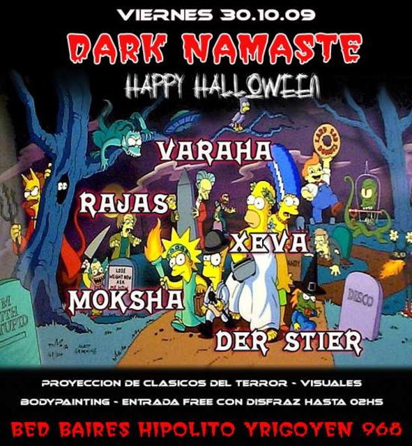 Party Flyer Namaste Halloween Dark Edition 30 Oct '09, 23:30
