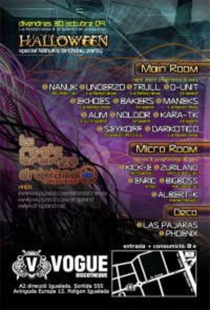 Party Flyer Nanuk B-Day Party by La Resistranze & Dropland@Vogue 30 Oct '09, 23:30