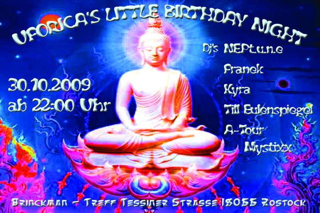 Party Flyer Uforica's Little Birthday Night 30 Oct '09, 22:00