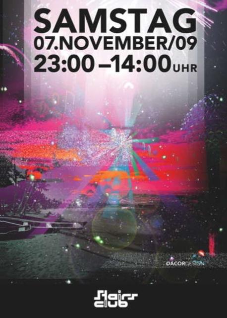 Party Flyer maRe @ Stairs Club Zürich // SENSIFEEL - ELECTROSTATIC 7 Nov '09, 23:00
