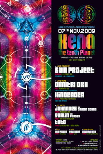 Party Flyer XENA the tenth planet 7 Nov '09, 22:30