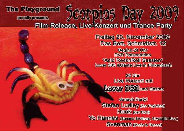 Party Flyer Scorpios Day ! 20 Nov '09, 21:00