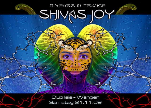 Party Flyer SHIVAS JOY - Jubiläum 5 Jahre 21 Nov '09, 22:00
