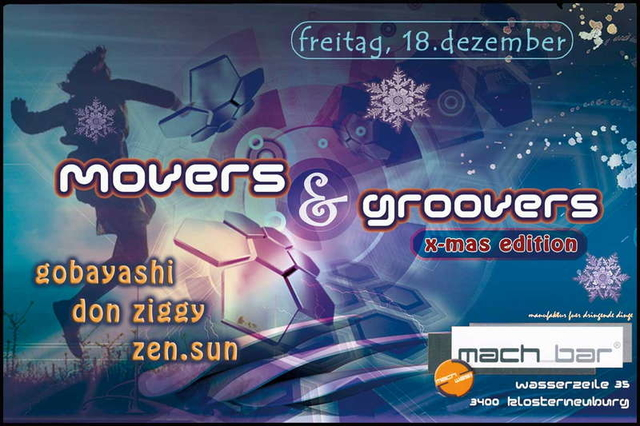 ° MOVERS & GROOVERS ° x-mas edition 18 Dec '09, 22:00