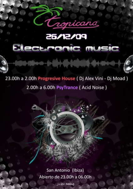 Party Flyer Electronic Music 26 Dec '09, 23:00