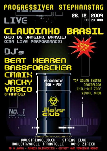 Party Flyer Progressiver Stephanstag @ Stairs Club 26 Dec '09, 23:00