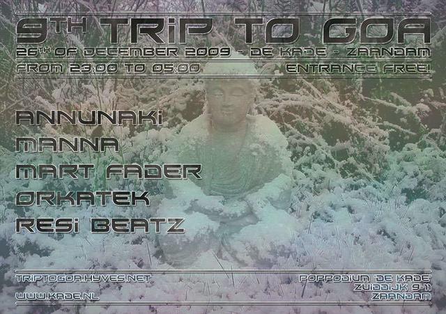 Party Flyer 9th trip to GOA 26 Dec '09, 23:00