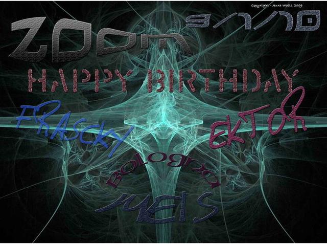 Party Flyer :-)) Happy Birthday Fr@$cKy, Meis and Ektor !!! :-)) 9 Jan '10, 23:00