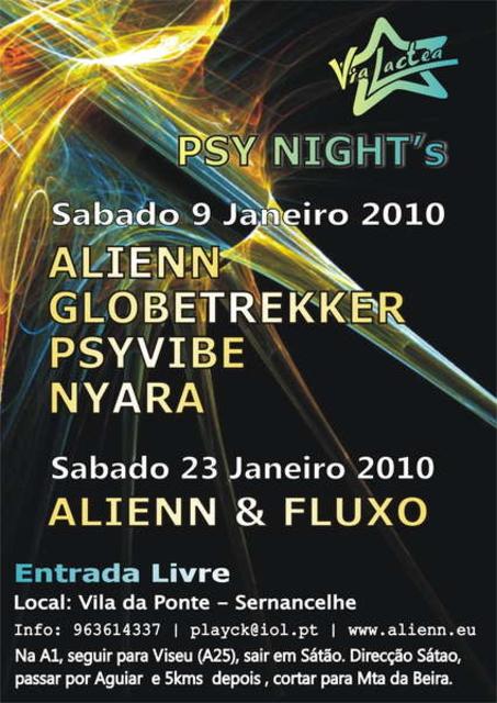 Party Flyer 1st PSY NIGHT 2010 9 Jan '10, 23:30